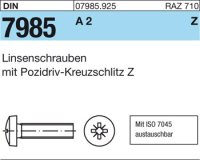 Linsenschrauben M2,5x25-Z