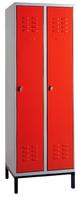 Garderobenschrank auf Untergestell, Breite 300mm, RAL7035/RAL5012