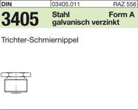 Trichter-Schmiernippel AM6x1