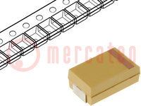 Kondensator: Tantal; 220uF; 10VDC; SMD; Geh: D; 2917; ±10%; -55÷125°C