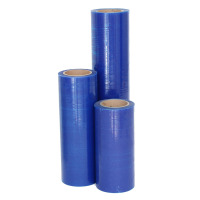 PE-Schutzfolie, leicht haftend, 250 mm breit x 100 lfm., 50µ, blau