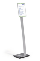 Durable INFO SIGN Information stand A4 Acrylic, Aluminum Silver
