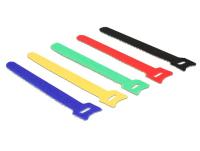 DeLOCK 18634 kabelbinder Nylon Zwart, Blauw, Groen, Rood, Geel 10 stuk(s)