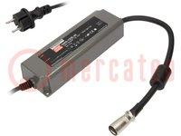 Tápegység: impulzusos; LED; 120W; 48VDC; 2,5A; 90÷264VAC; IP67; 91%