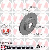 Brake Disc, ZIMMERMANN, 230.2356.20