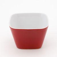 KAHLA Einzelteile kleine Schale eckig 6x6 cm rot
