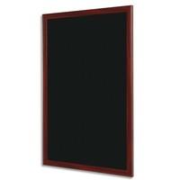 BI-OFFICE Ardoise murale Noire, cadre coloris merisier, livrée avec 2 craies et fixation L30 x H40 cm