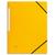 5 ETOILES Chemise 3 rabats monobloc à élastique en carte lustrée 5/10e, 390g. Coloris jaune.