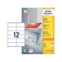 Etikett címke Avery Zweckform 105x48 mm univerzális címke 100 ív 2400 db/doboz 3424 - 3424