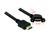 Kabel HDMI A Stecker an HDMI A Buchse zum Einbau 110° gewinkelt 1m, Delock® [85103]
