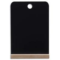 BI-OFFICE Ardoise de table Noire double face, support en pin, format A4