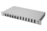 Fiber Optic Sliding Splice Box, 1U, Equipped