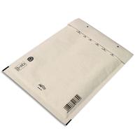 AIRPRO Boîte de 100 pochettes à bulles d'air en Kraft Blanc, fermeture auto-adhésive, Format 27 x 36 cm