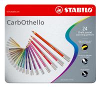 Pastellkreidestift STABILO® CarbOthello, Metalletui mit 24 Stiften