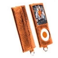 Krusell MP3 Player Encore Tasche 74137 für Apple iPod Nano 4G - orangemetallic