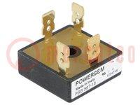 Einphasen Brückengleichrichter; Urmax:1800V; If:30A; Ifsm:500A