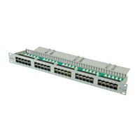 "ISDN 19""-Patchpanel 1 HE, 50 Ports UTP"