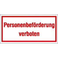 Personenbeförderung verboten Hinweisschild zur Betriebskennz, selbstkl,20x10cm