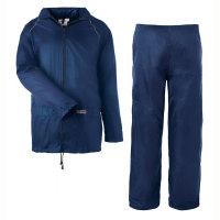 Regenschutzbekleidung Regenset, Jacke und Hose, marine, Gr. S - XXXL Version: L - Größe L