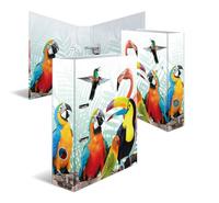 HERMA Ordner 7 cm Papagei Ringmappe A4 Mehrfarben