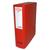 5 ETOILES Boîte de classement dos de 8 cm, en polypropylène 7/10e rouge