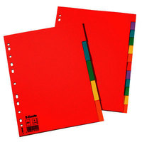 Separadores de cartulina A4 colores Esselte 5 pestañas