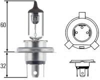 Glühlampe (Spannung 12V, Leuchten-Bauart Halogen, Lampenart H4, Sockelausführung P 43t-38, Prüfz. ECE, Nennleistung 60/55W, Sockelausführung P 43 t-38 )