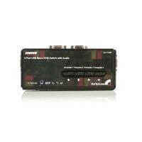 StarTech.com 4-poort USB KVM-switch Zwart met Audio en Bekabeling