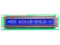 Kijelző: LCD; alfanumerikus; STN Negative; 16x1; kék; LED; 122x33mm