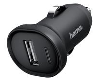 OPLADER AUTO HAMA PICCO USB 1A ZWART