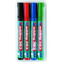 Flipchart marker 383, szögletes hegyű, Írásszín: 4 különböző színben
