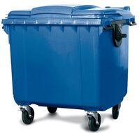 Großmüllbehälter aus Polyethylen (PE), 660 Liter Volumen, blau, Artikelbild