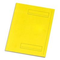 5 ETOILES Paquet de 50 sous-dossiers pour dossiers-suspendus. 2 rabats. Coloris jaune.