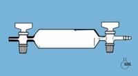 Gas sampling tubes DURAN® tubing Type Without sampling connections Capacity 350 ml External body diam. 54 mm Length* 200