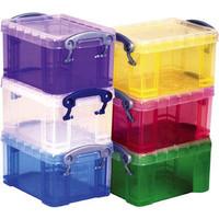 Aufbewahrungsbox, PP, 19 l, 39,5 x 25,5 x 29 cm, farblos, tr