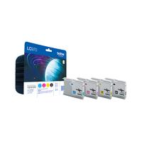 Brother LC-970 Value Pack Origineel Zwart, Cyaan, magenta, Geel