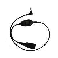 Jabra Adaptor cord QD -> 2.5mm 0,5 m Zwart