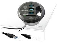 Tisch-Hub 3 Port USB 3.0 + 2 Slot SD Card Reader, Delock ® [61991]