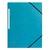 5 ETOILES Chemise 3 rabats monobloc à élastique en carte lustrée 5/10e, 390g. Coloris bleu clair.
