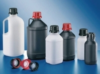 UN-Chemikalienflasche 1000 ml enghals schwarz HDPE ohne Verschluß