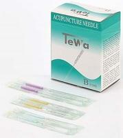 TeWa Akupunkturnadeln PB2015-Type, 0,20 x 15 mm, beschichtet mit Kunststoffgriff, 100 Stück