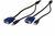 Octopus-KVM Kabel set VGA, USB, HDDB15/M, 1 x USB-A/M HDDB15/F, 1 x USB-B/M Farbe schwarz, Länge 1,8 m Digitus® [AK 82301]