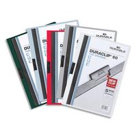 DURABLE Chemise de présentation Duraclip 30 à clip, couverture transparente - 1-30 feuilles A4 - Assortis