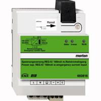 KNX Spannungsversorgung REG-K/160 mA mit Notstromeingang, lichtgrau