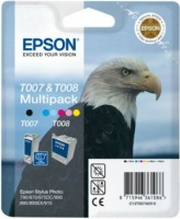 Bundle Epson T007&T008 black + color MultiPack | Stylus Photo 790/870/875DC/8...