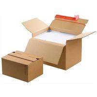 COLOMPAC Carton à monter brun - Dimensions : L30,4 x H de 13 à 22 x P21,6 cm