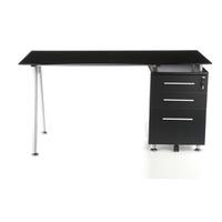 Glastisch schwarzglas  Schreibtisch / Computertisch / Glastisch START-UP Graphit / Schwarz ...