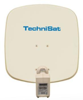 TechniSat TV Sat DigiDish 45 Twin, satellite dish, colour beige - 1045/2882