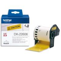 BROTHER Ruban papier adhésif continu Noir/Jaune largeur 62mm / longueur 15m DK22606