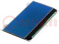 Kijelző: LCD; alfanumerikus; STN Negative; 20x4; kék; 66x38,1mm